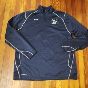 Nike Thermafit Blue Mens Pullover Fleece Size 2XL